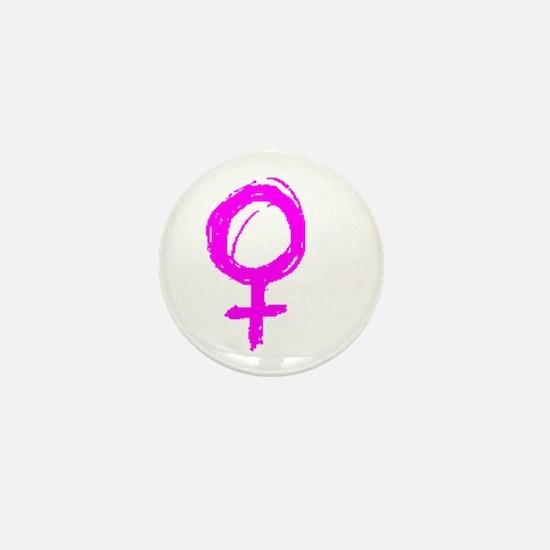 Pink women UNITE Mini Button