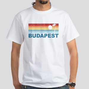 Palm Tree Budapest White T-Shirt