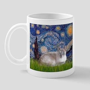Starry / Lilac Pt Siamese cat Mug