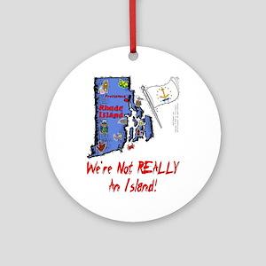 RI-Island! Ornament (Round)