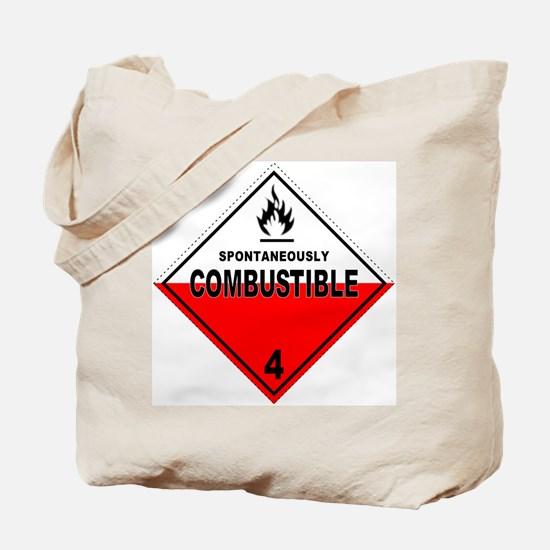 Spontaneously Combustible Tote Bag