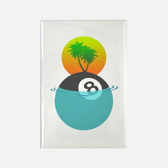 Billiard Paradise Rectangle Magnet