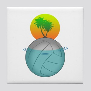 Volleyball Paradise Tile Coaster