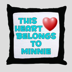 This Heart: Minnie (E) Throw Pillow