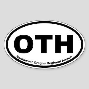 Southwest Oregon Regional Airport Oval Sticker