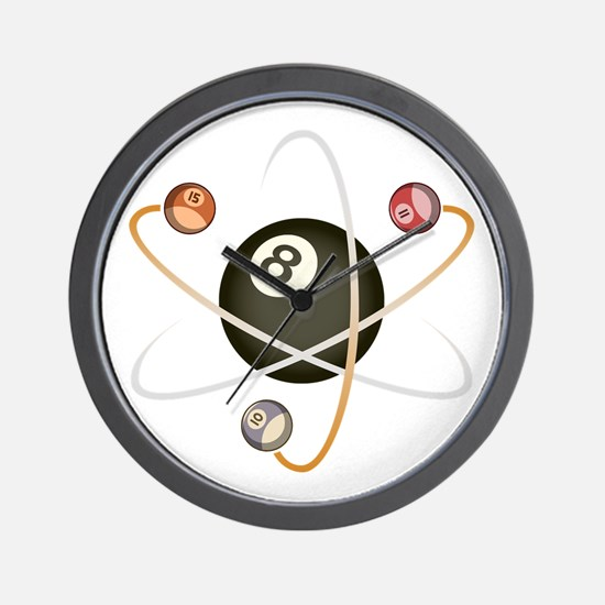 Billiard Atom Wall Clock
