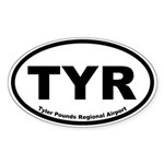 Tyler Pounds Regional Airport Oval Sticker
