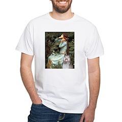 Opohelia's Keeshond (E) White T-Shirt