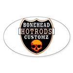 BHC HOTRODS Oval Sticker