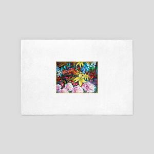 Garden! Colorful art 4' x 6' Rug