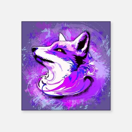Purple Fox Spirit Sticker