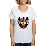 GREY BEARDs HOTRODS Women's V-Neck T-Shirt