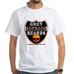 GREY BEARDs HOTRODS White T-Shirt