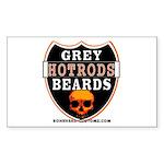 GREY BEARDs HOTRODS Rectangle Sticker