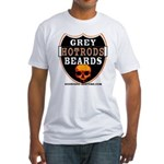 GREY BEARDs HOTRODS Fitted T-Shirt