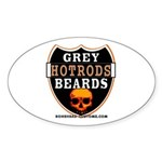 GREY BEARDs HOTRODS Oval Sticker