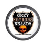 GREY BEARDs HOTRODS Wall Clock