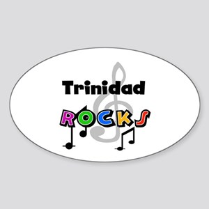 Trinidad Rocks Oval Sticker