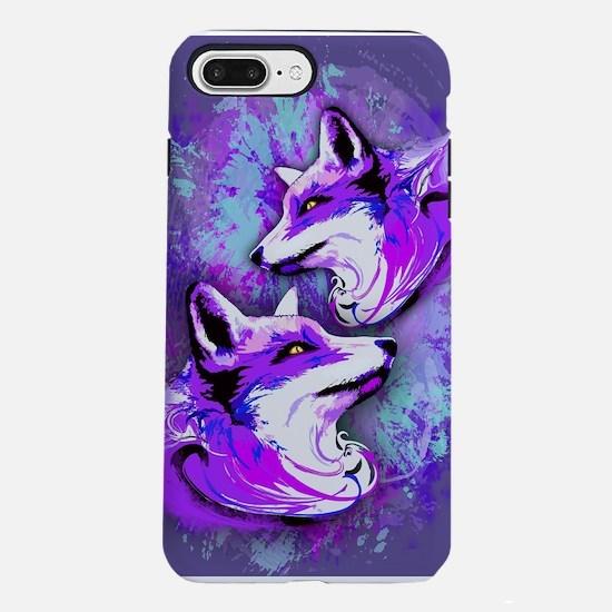Purple Fox Spirit iPhone 8/7 Plus Tough Case