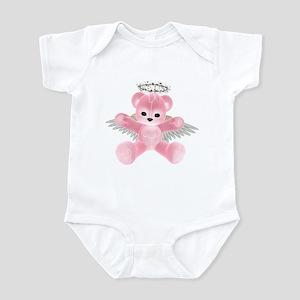 PINK ANGEL BEAR Infant Bodysuit