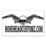 BONEHEAD HEADERS Rectangle Sticker