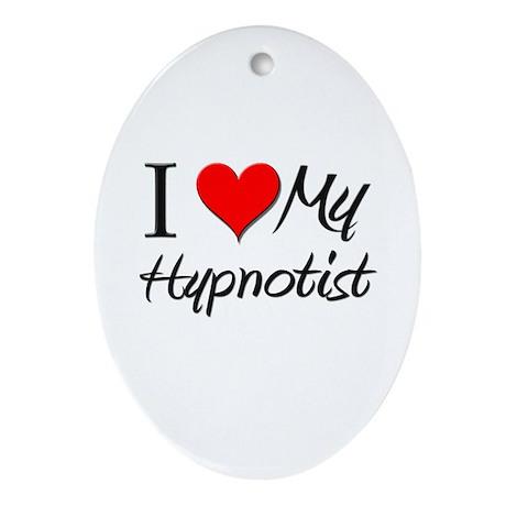 I Heart My Hypnotist Oval Ornament