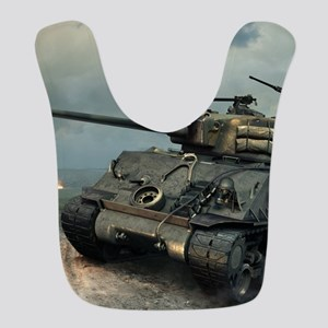 Tank Firing Polyester Baby Bib