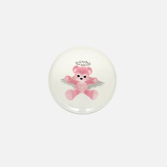 PINK ANGEL BEAR Mini Button