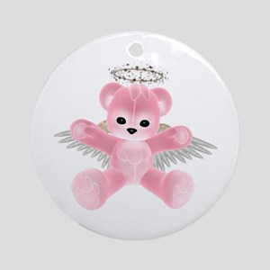PINK ANGEL BEAR Ornament (Round)