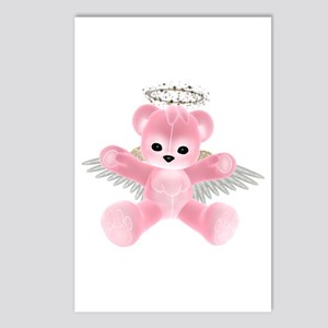 PINK ANGEL BEAR Postcards (Package of 8)