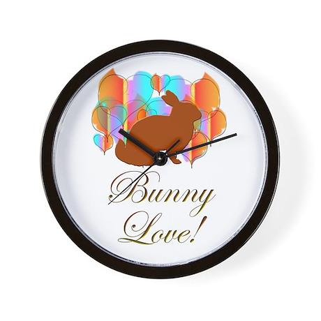 Bunny Love! Wall Clock