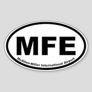 McAllen-Miller Intl Airport Oval Sticker