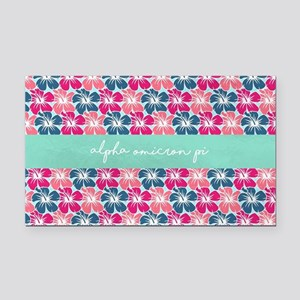Alpha Omicron Pi Flowers Rectangle Car Magnet