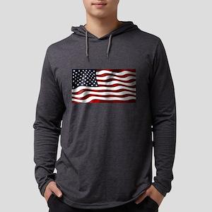 American Flag USA Long Sleeve T-Shirt