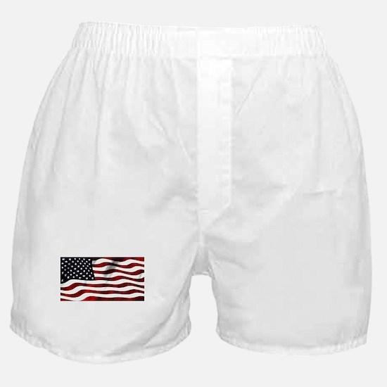 American Flag USA Boxer Shorts