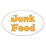 Junk Food Sticker (Oval)