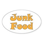 Junk Food Sticker (Oval 10 pk)