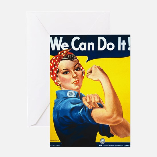 Rosie The Riveter-We Can Do It! Greeting Cards