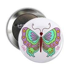 Stylized Butterfly Button