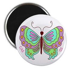 Stylized Butterfly Magnet