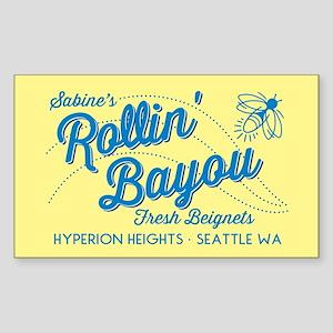 OUAT Rollin Bayou Sticker (Rectangle)
