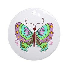 Stylized Butterfly Keepsake Round Ornament