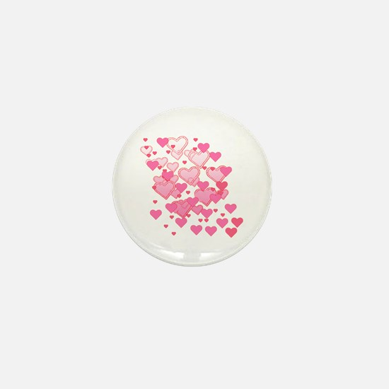 Sprinkle of Hearts Mini Button