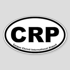 Corpus Christi Intl Airport Oval Sticker