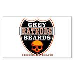 GREY BEARDS RATS Rectangle Sticker