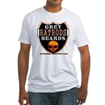 GREY BEARDS RATS Fitted T-Shirt