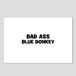 Bad Ass Blue Donkey Postcards (Package of 8)