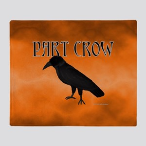 Part Crow Throw Blanket