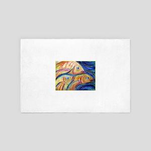 Fish, golden fish! 4' x 6' Rug