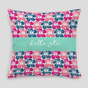 Delta Zeta Flowers Everyday Pillow